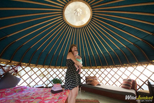 Staying in a yurt with our baby