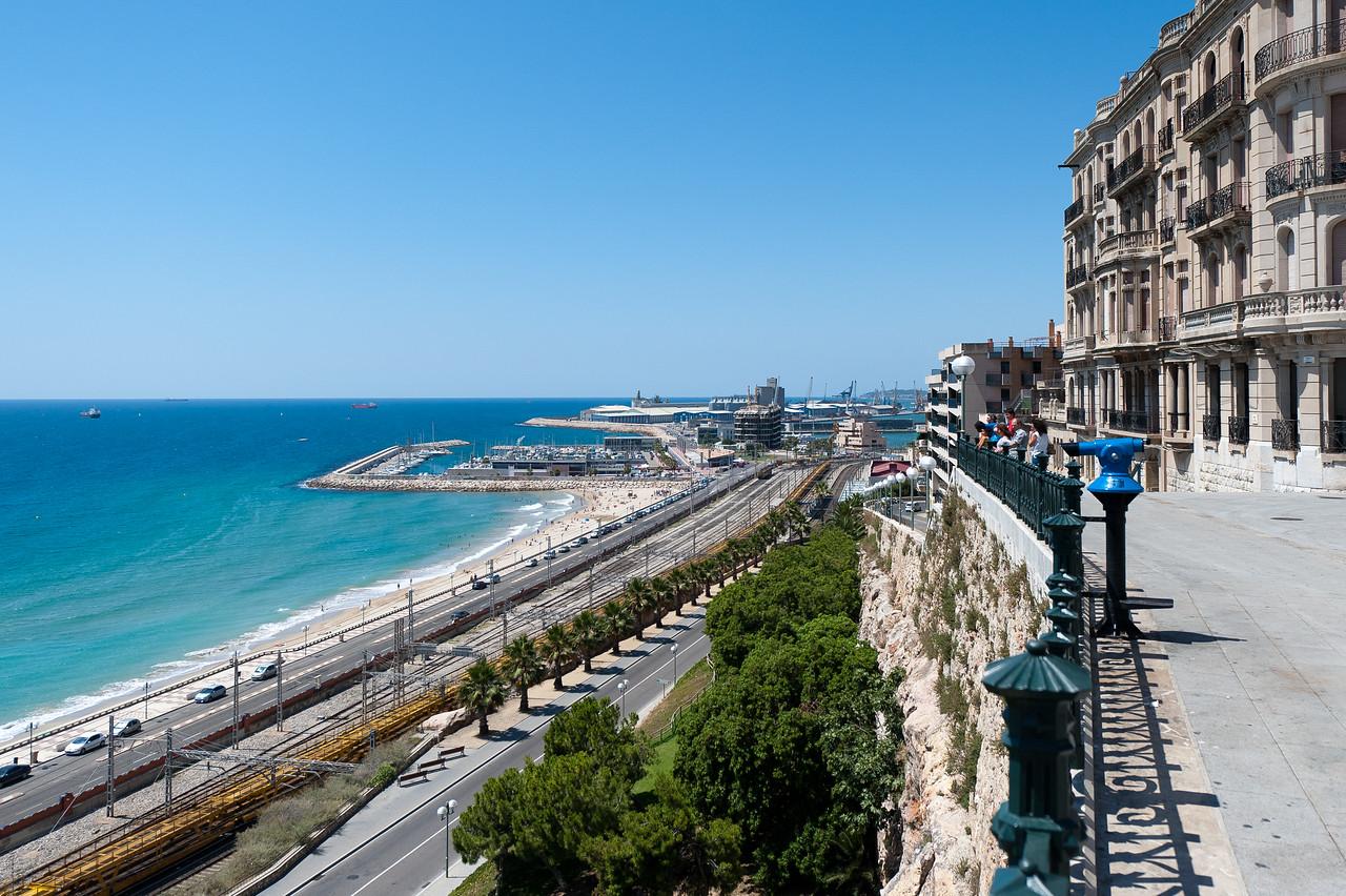 Scenic view of the Mediterranean Sea - Tarragona, Spain