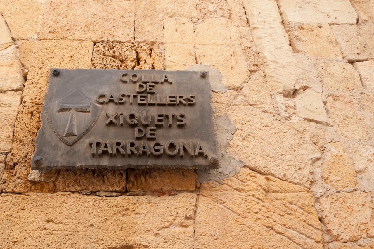 Sign at Colla Castellers Xiquets de Tarragona - Spain