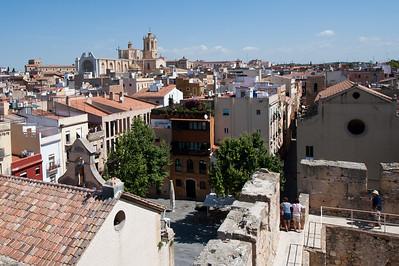 The city skyline of Tarragona, Spain