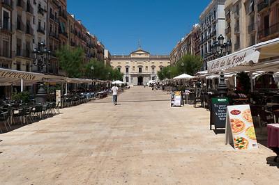 A wide street in Tarragona with plenty of bars and cafes - Tarragona, Spain
