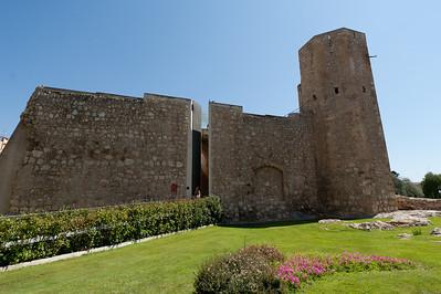 Torre de les Monges in the old medieval city walls of Tarragona, Spain
