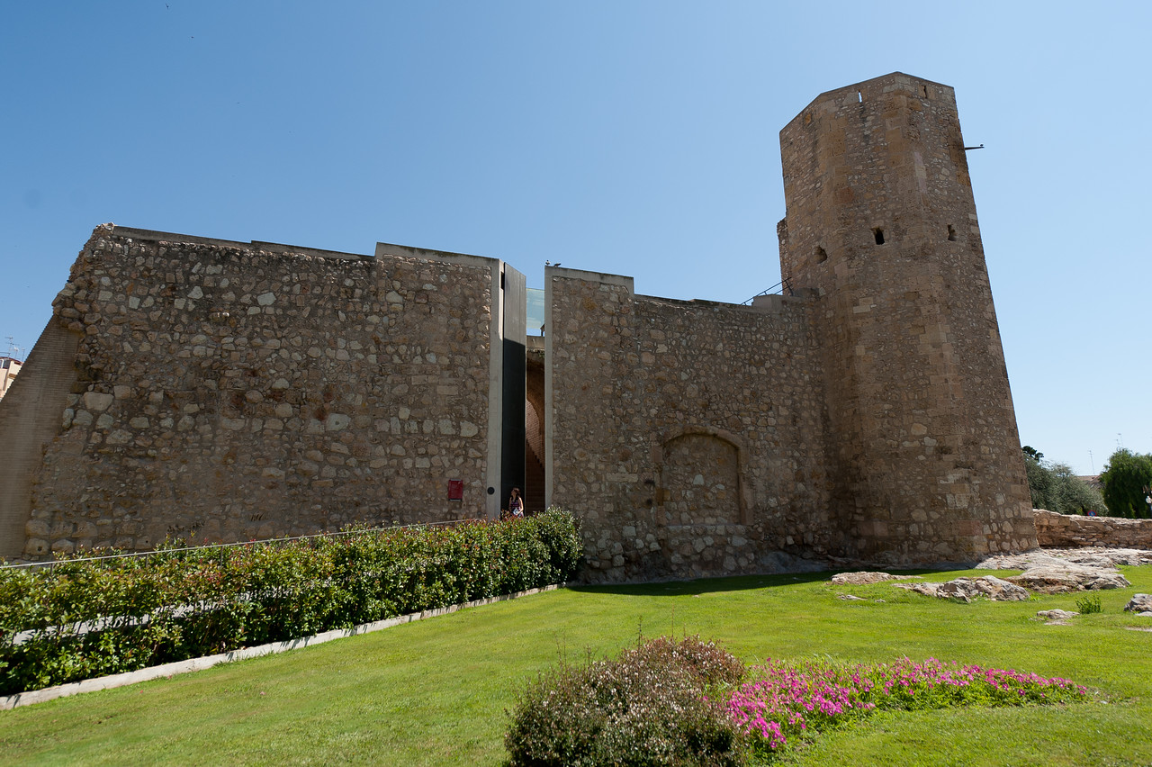 Torre de les Monges in the old medieval city walls of Tarragona, Spain