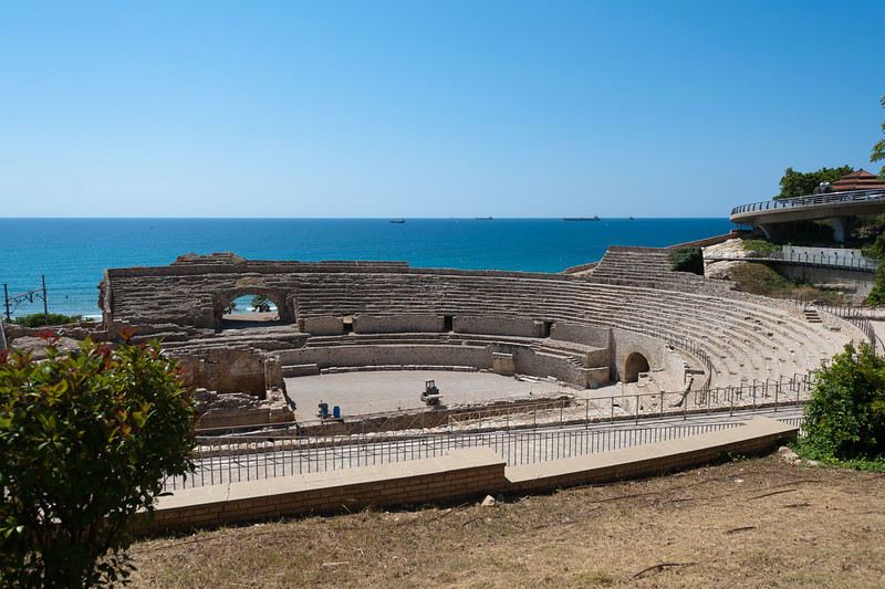 The ancient Roman Amphitheater in Tarragona, Spain