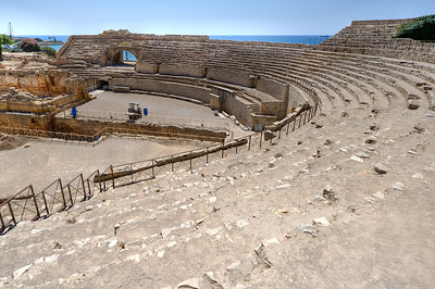The ancient Roman Ampitheater in Tarragona, Spain