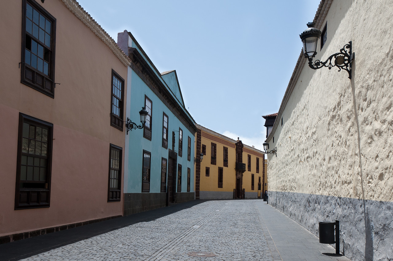 Street scene in San Cristobal de La Laguna in Tenerife, Spain