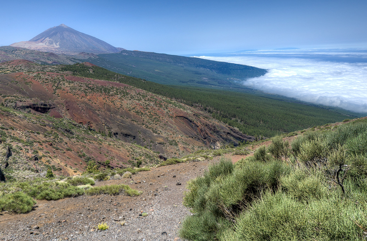 View of Mount Teide in Tenerife, Spain