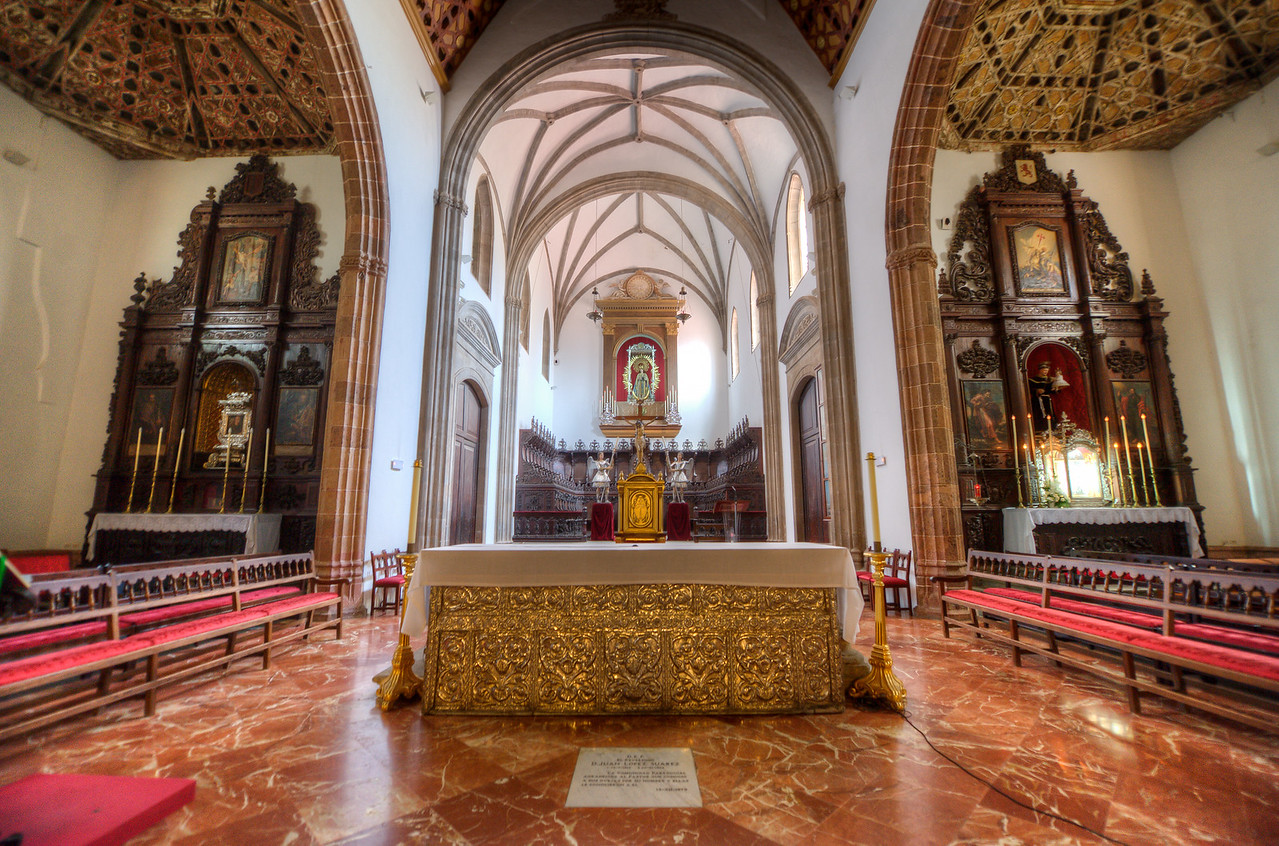 The altar at the Basilica of Candelaria in Tenerife, Spain