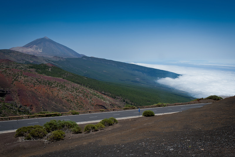 Scenic drive with a view of Mount Teide - Tenerife, Spain
