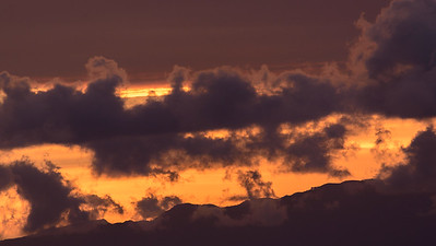 Sunset skies over La Gomera