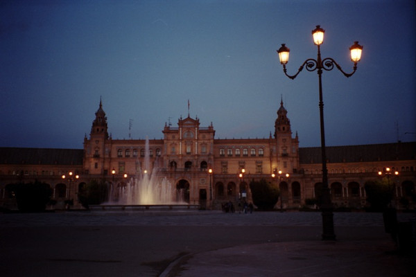 Night in Plaza de Espana - Sevilla, Spain