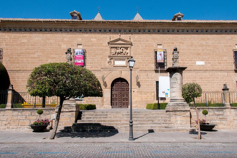 Ancient Hospital de Santiago facade in Ubeda, Spain