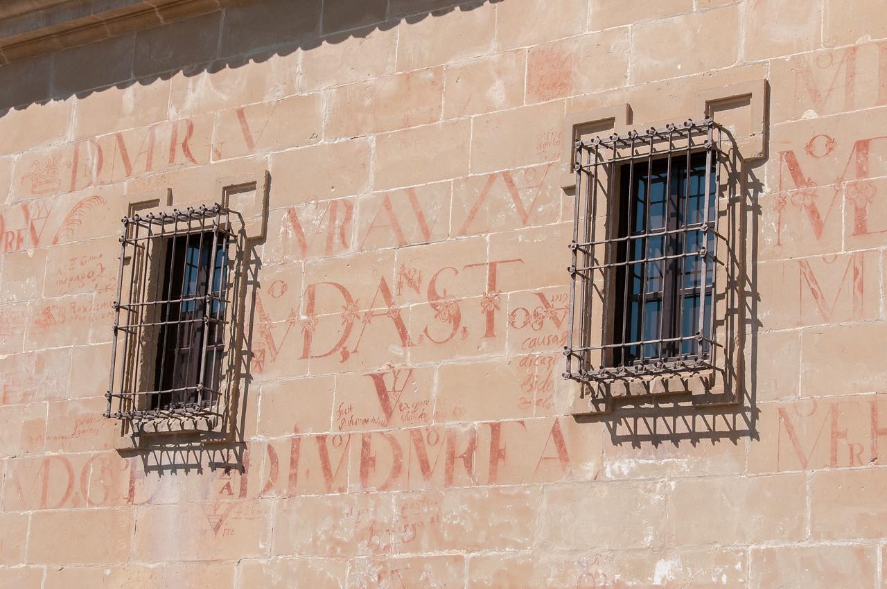Wall details of Universidad Internacional de Analucia in Baeza, Spain