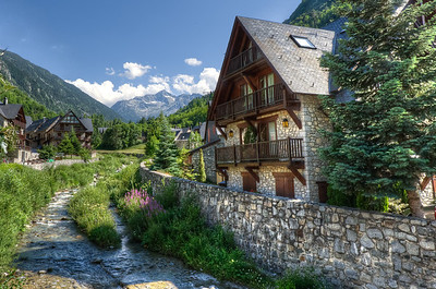 Houses in Val d' Aran, Catalonia, Spain