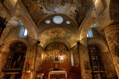 Iglesia de San Miguel in Vielha, Catalonia in the Val d'Aran, Spain
