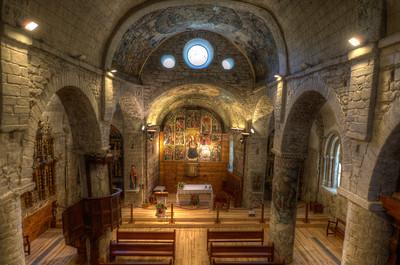 View of the interior of Iglesia de San Miguel in Val d' Aran, Catalonia, Spain