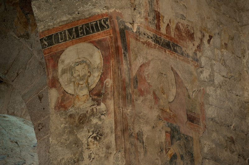 More fresco inside the Romanesque church of Sant Climent in Taull - Vall de Boi, Spain