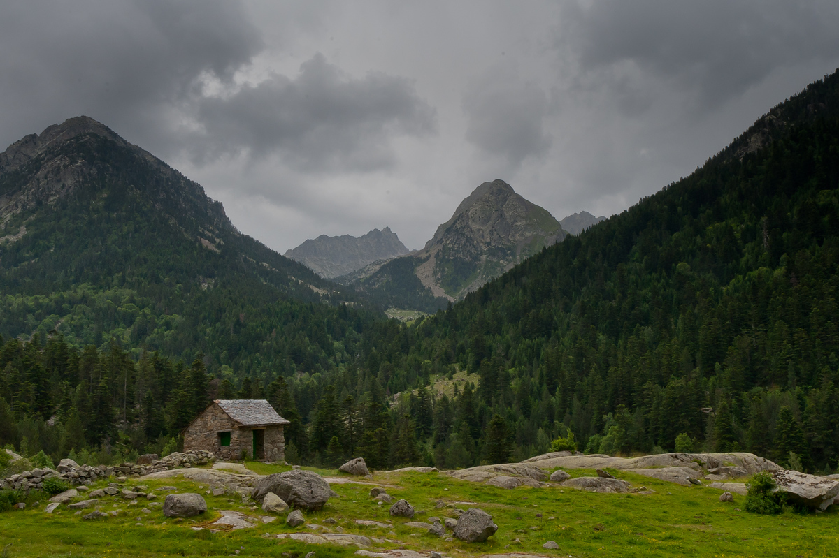Small House Nestled in the Pyrenees Mountains in Vall de Boi, Spain