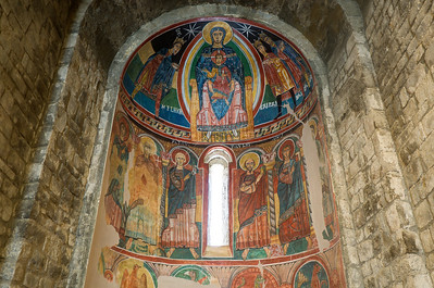 Fresco of Christ Pantocrator in Sant Climent in Taull - Vall de Boi, Spain