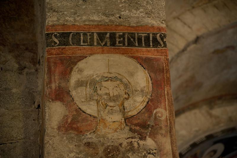 St. Clement fresco inside Sant Climent in Taull - Vall de Boi, Spain