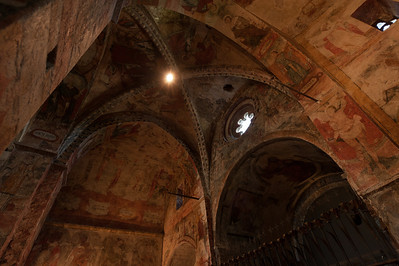 Inside Sant Climent in Taull in Vall de Boi, Catalonia, Spain
