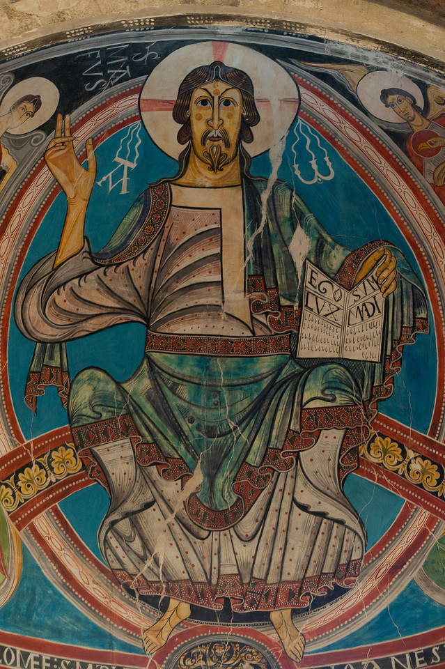 Fresco of Christ the Pantocrator in Sant Climent in Taull - Vall de Boi, Spain