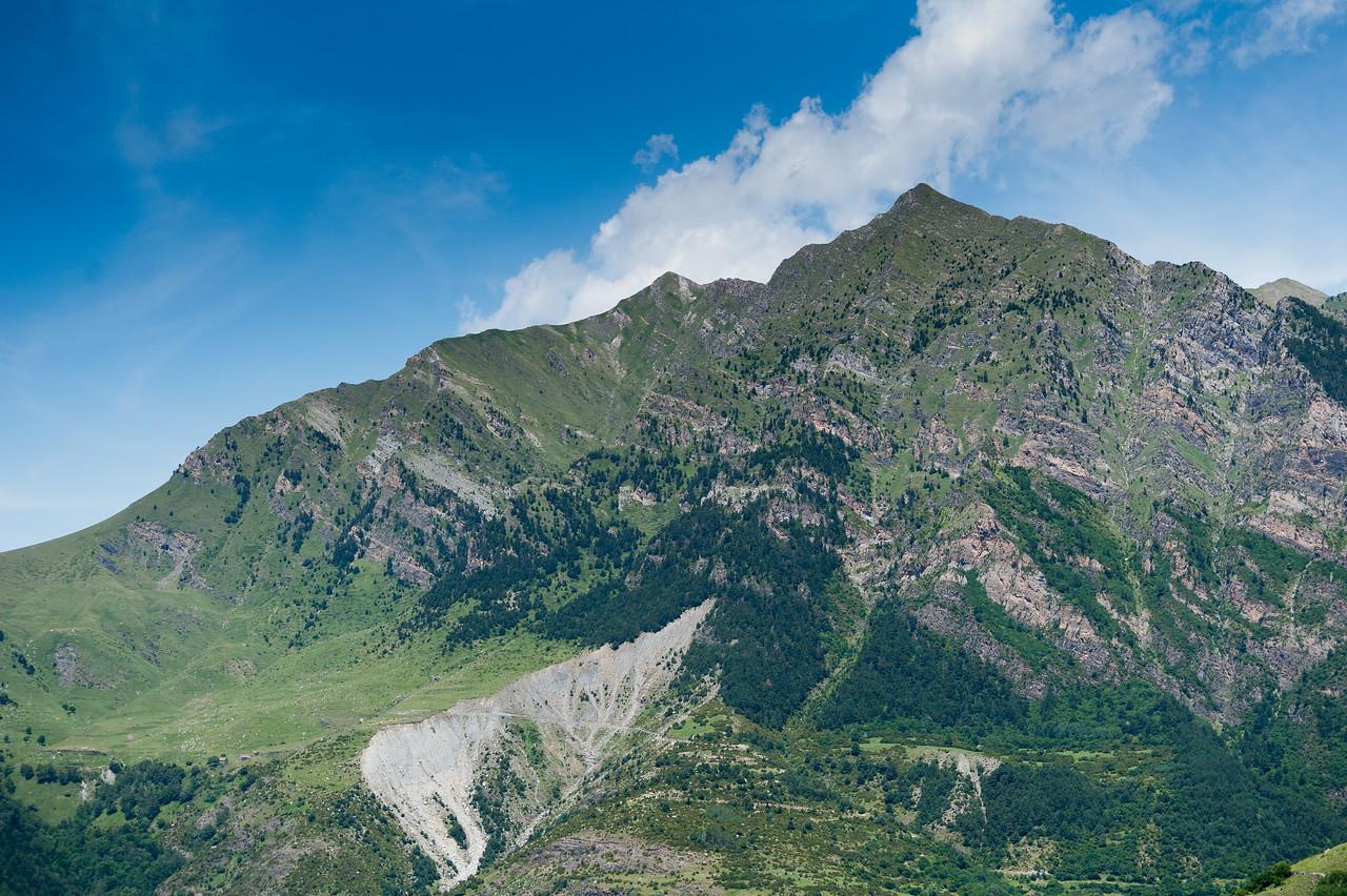 Roca de la Feixa mountain in Vall de Boi, Spain