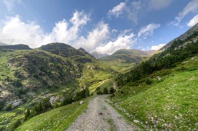 Pyrenees Mountains in Vall de Nuria, Spain