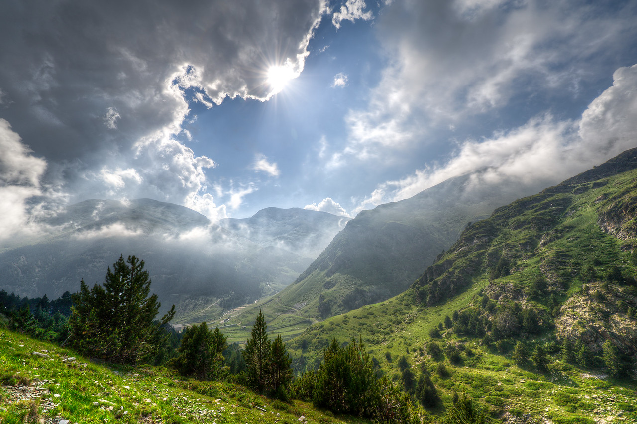 Clouds over the Pyrenees - Val de Nuria, Spain
