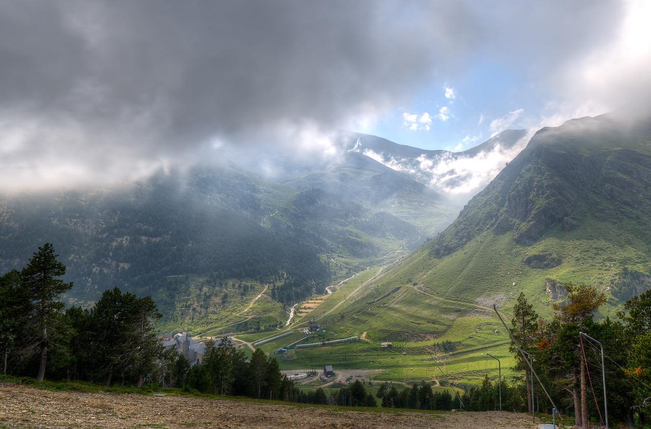 Pyrenees Mountaintops in Vall de Nuria, Spain