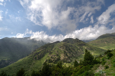 Pyrenees Mountaintops in Vall de Nuria, Spain