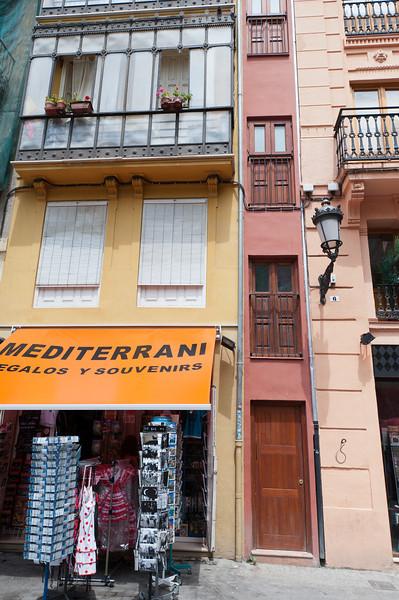 Souvenir shop as part of building complex in Valencia, Spain