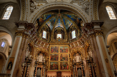 The altar at Valencia Cathedral in Valencia, Spain
