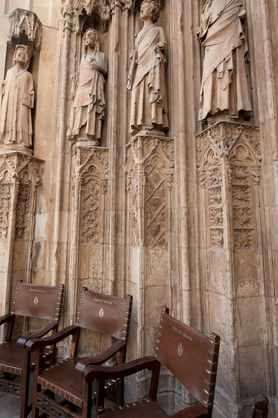The Apostles Gate, one of the three gates of the Valencia Cathedral - Spain