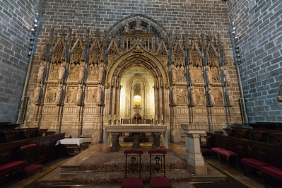 The altar with the Holy Grail in Valencia Cathedral, Valencia, Spain