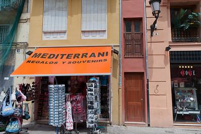 Souvenir shop in Valencia, Spain