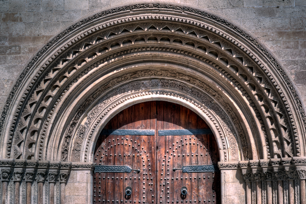 Doorway to the Valencia Cathedral, Spain