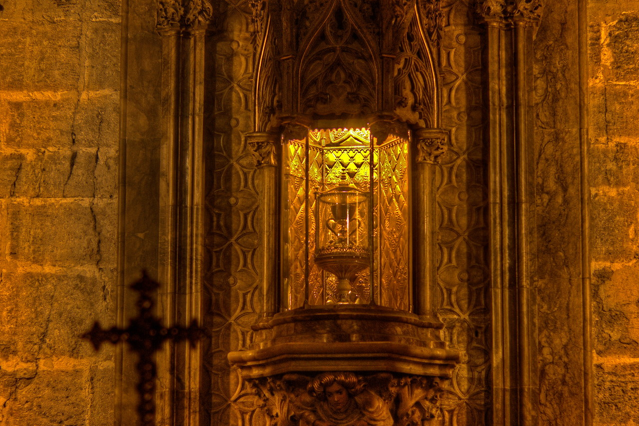 The Holy Grail in Valencia Cathedral in Valencia, Spain