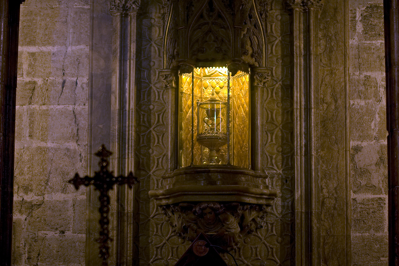 The Holy Grail inside Valencia Cathedral in Spain