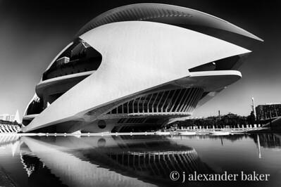 Ciutat de les Arts i les Ciències Valencia 1 B&W