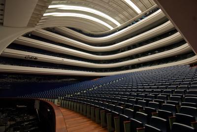 Inside the Palau de les Arts Reina Sofia opera house in Valencia, Spain