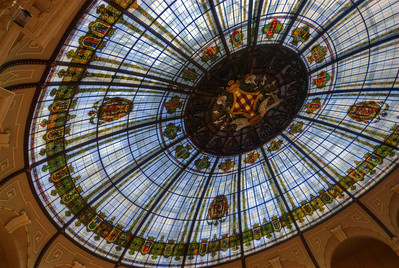 Details on the ceiling of Llotja de la Seda in Valencia, Spain