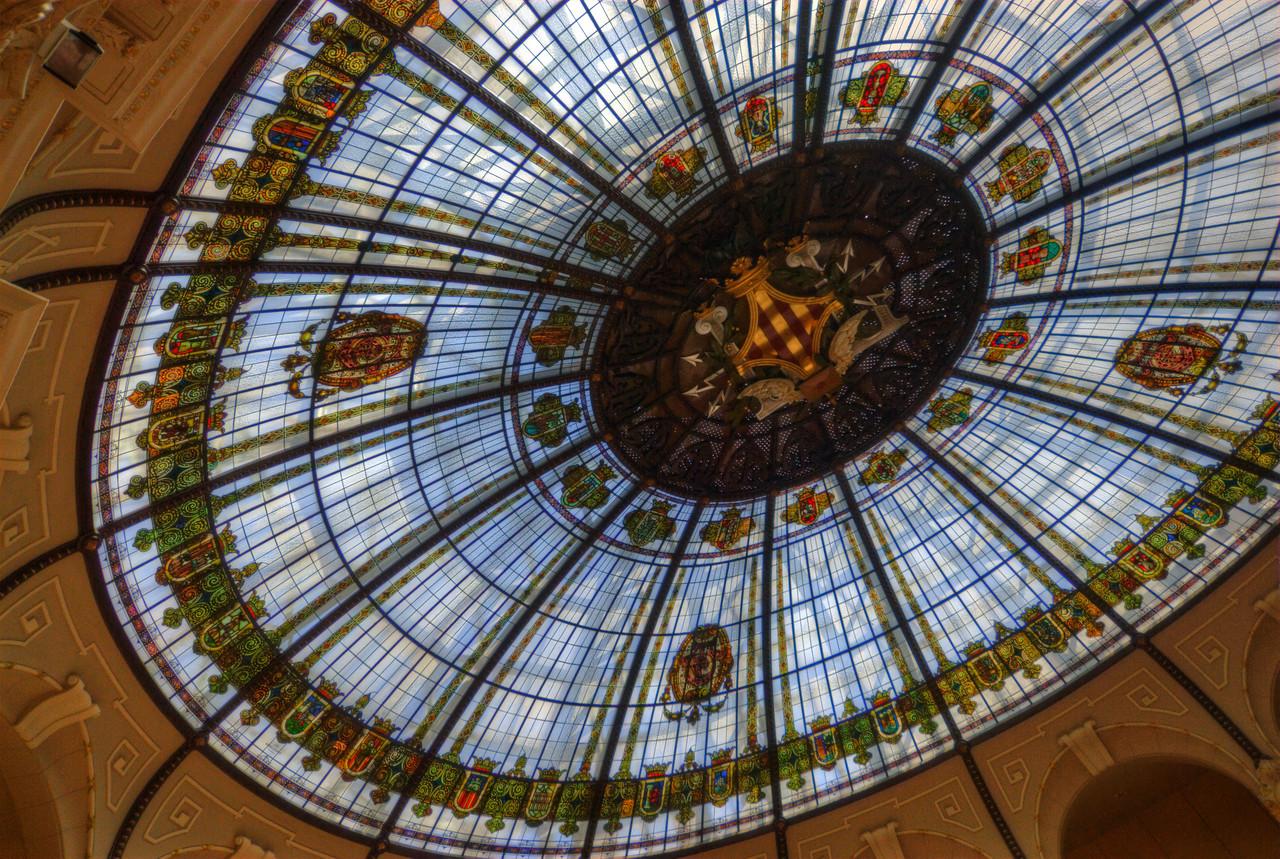 Details on the ceiling of Llotja de la Seda in Valencia, Spain