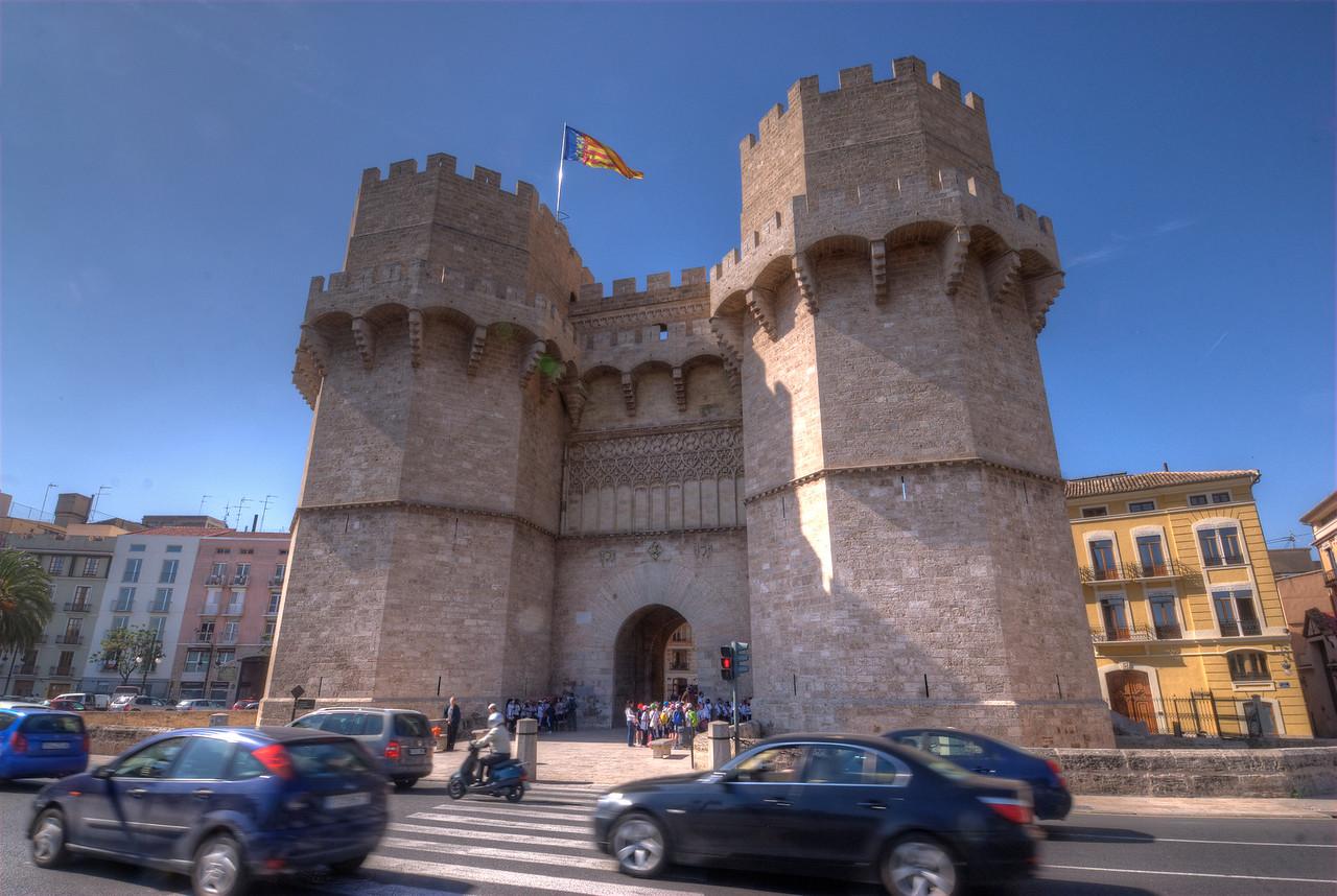 The Torres de Serrans or Porta de Serrans in Valencia, Spain