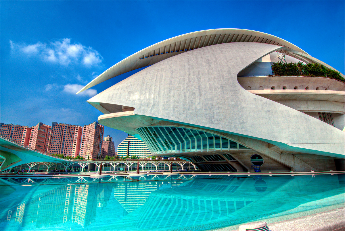 The Palau de les Arts Reina Sofia in Valencia, Spain
