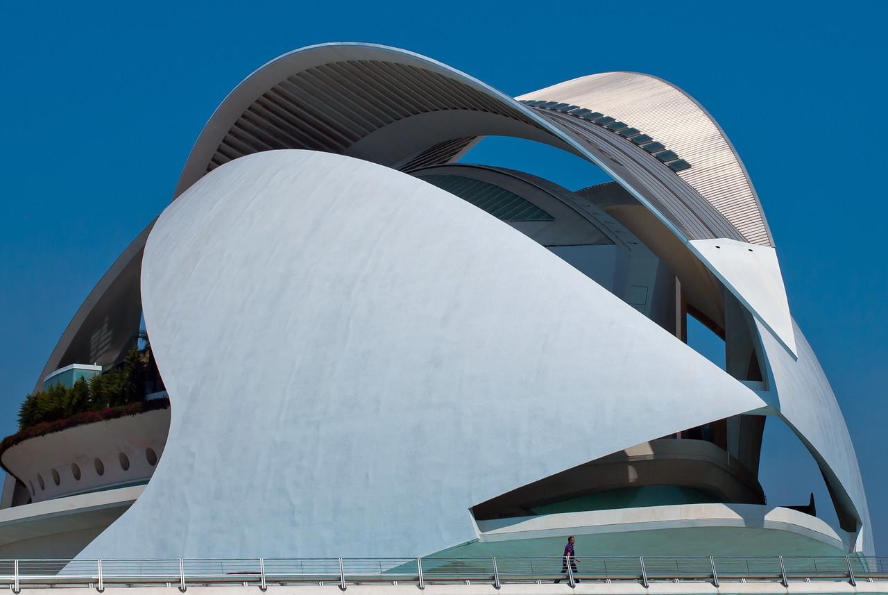 Architectural details of L'Oceanografic in Valencia, Spain