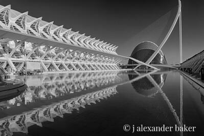 Ciutat de les Arts i les Ciències Valencia 3 B&W