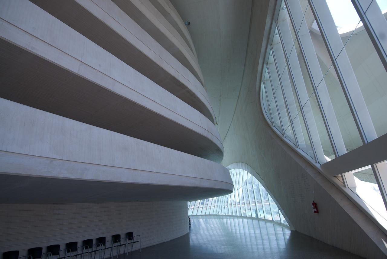 Inside L'Oceanografic in Valencia, Spain