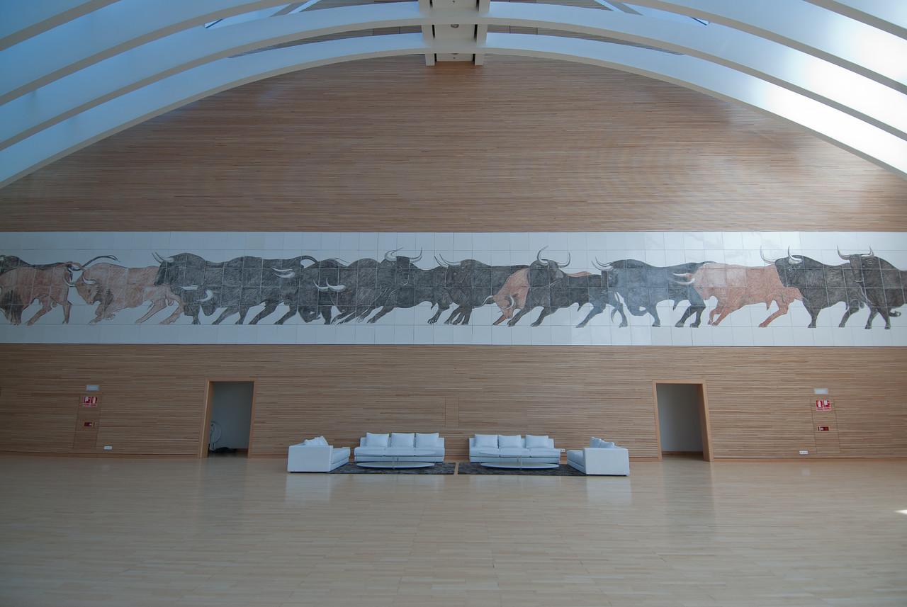 Inside Palau de les Arts Reina Sofia in Valencia, Spain