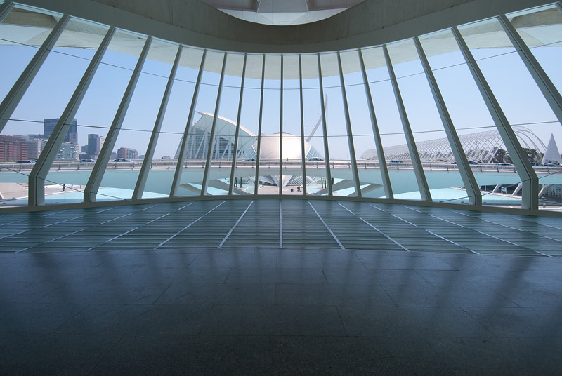 View from the Palau de les Arts Reina Sofia in Valencia, Spain